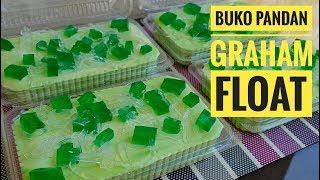 Buko Pandan Graham Float (Icebox Cake)