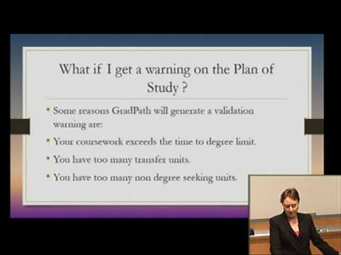 4 - GradPath – Intro to the Master's Plan of Study