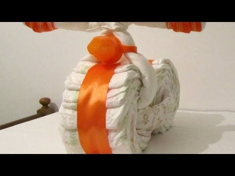 How To Make a Bicycle Diaper Gift - DIY Crafts Tutorial - Guidecentral