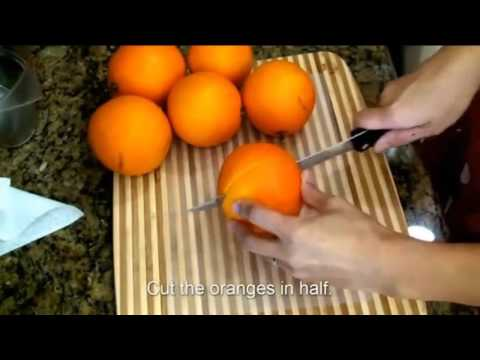 Jello Slices from Fresh Oranges