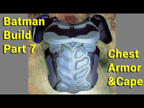 Making a Batman Costume : Chest Armor and Cape (part 7 in series)