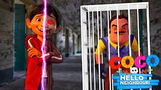 Minecraft HELLO NEIGHBOR - THE BEGINNING OF MIGUEL.EXE FROM THE MOVIE COCO!!