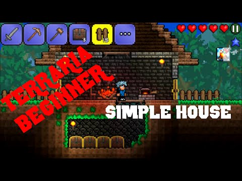 Terraria Beginner (IOS) - How to build a basic house with a storage room!