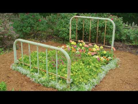 DIY Bed Frame Flower Bed - DIY Network