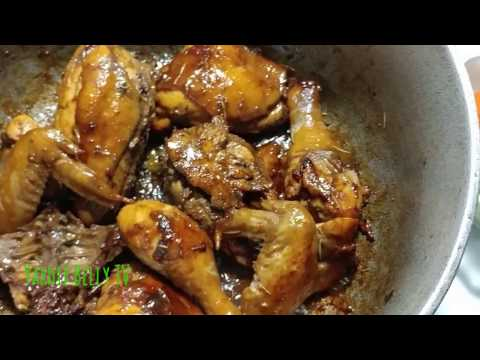 Easy Brown Stew Chicken Yardie Belly Style