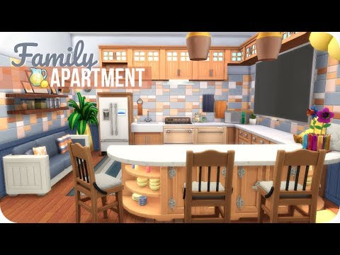 SMALL FAMILY APARTMENT 💛 | Sims 4 Speed Build