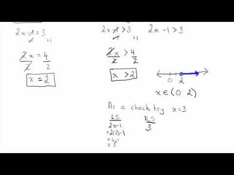 Solving Linear Inequalities (1)