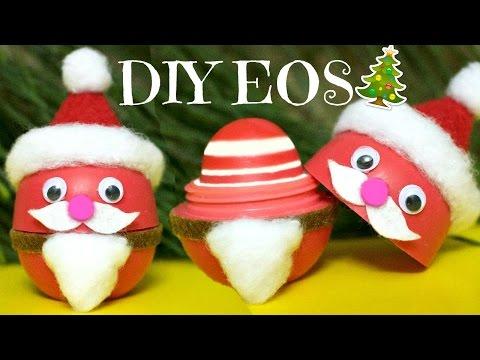 DIY EOS SANTA CLAUS | How to Make EOS Lip Balm | DIY Christmas Gifts EASY