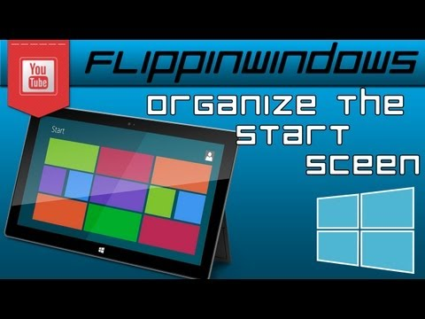 Windows 8   Clean & Organize the Start Menu