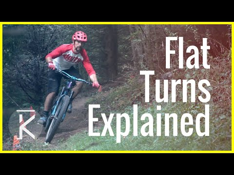 How to ride Flat mountain bike Turns | MTB turning Basics Part #2 | Skills with Phil