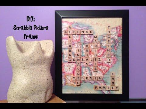 DIY: Scrabble Picture Frames!