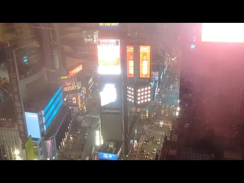 Time square from the top ( 31st floor night ) NYC