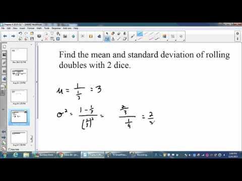 AP Stats ch 6 video 12 geometric pdf cdf mean variance