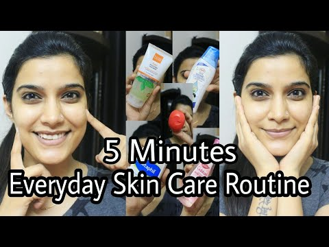 5 Minutes Everyday Skin Care Routine   Indian skin care Routine    Super Easy  Morning / Night