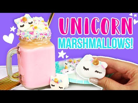 How to Make UNICORN Marshmallows and Hot Chocolate! 💕