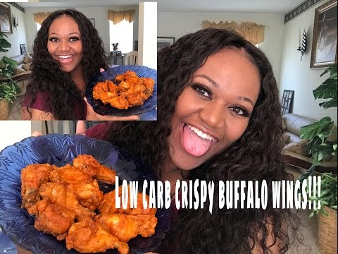 crispy oven baked! low carb Buffalo wings!! Weight loss journey hacks