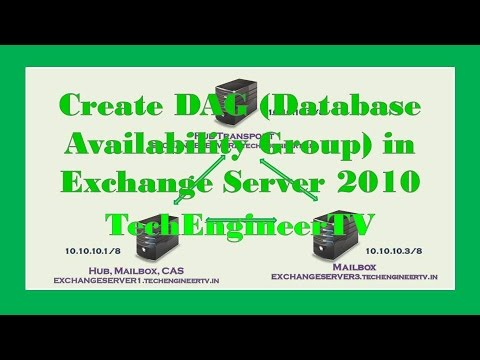 Create DAG (Database Availability Group) in Exchange Server 2010