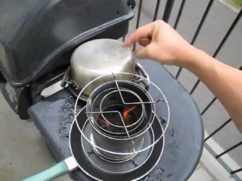 peanut woodgas Magic Stove- carbon monoxide and clean pot test