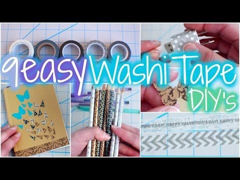 9 Easy Washi Tape DIY's