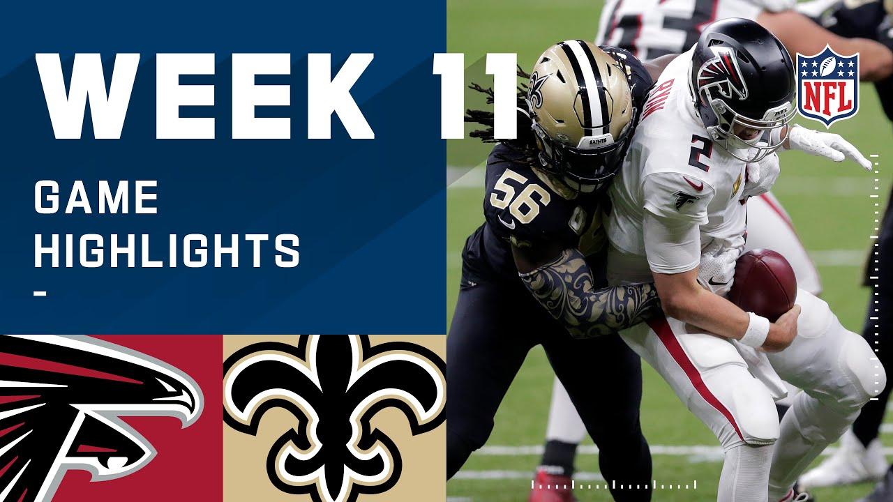 Falcons vs. Saints Week 11 Highlights | NFL 2020