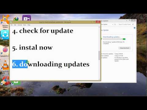 How to Check Windows Update For Windows 7/8/8.1