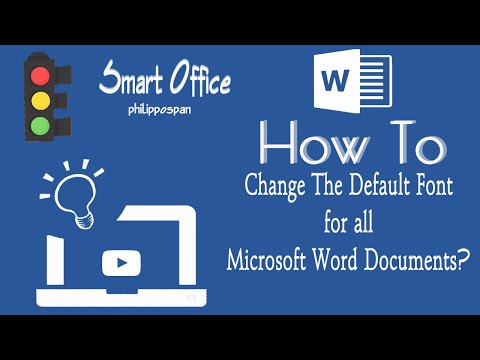 How To Change The Default Font in Word