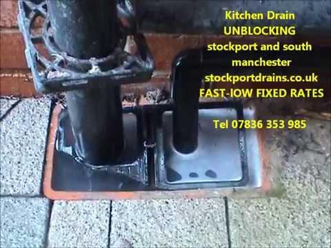 Unblocking kitchen drains stockport Blocked kitchen drain stockport