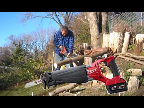 Milwaukee Sawzall M18 FUEL In ACTION REVIEW