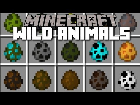 Minecraft ZOO AND WILD ANIMALS MOD / CREATE YOUR OWN ZOO AND PLAY WITH MOBS!!