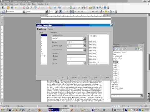 Näin teet otsikoihin automaattisen numeroinnin OpenOffice Writer 3.0:lla