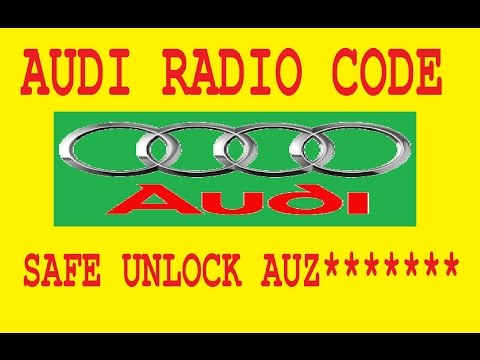Unlock Audi radio code generator,calculator by serial AUZ,Recovery PIN SAFE mode decode.