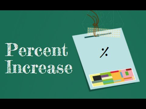 How do you find the percent increase?