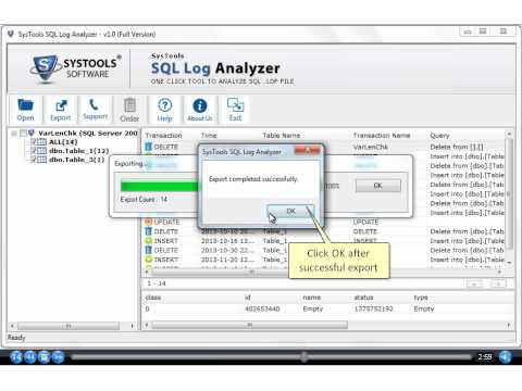 SQL Log Analyzer To Open & View SQL Log Transaction
