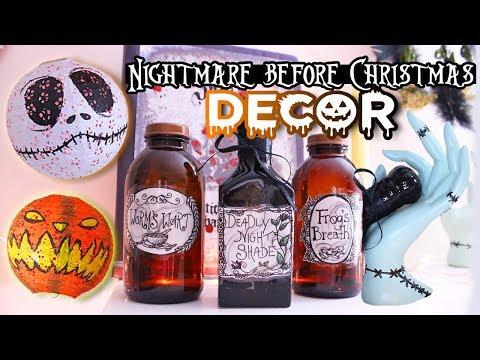 DIY Nightmare Before Christmas Inspired DECOR 💀 STYLOWEEN