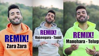 Zara Zara x Vaseegara x Manohara MASHUP   Minnale, Rehna Hai Tere Dil Mein   Tamil,Hindi,Telugu 🧡♡💙💚