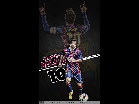 HOW TO CREATE LIONEL MESSI WALLPAPER with PHOTOSHOP..
