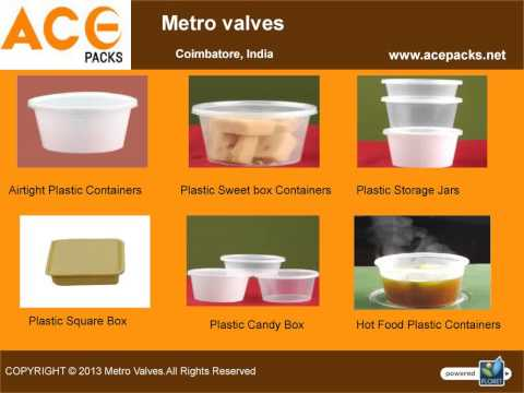 High Caliber Plastic Food Containers -  Metro Valves