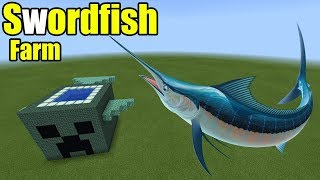 How to Make a Swordfish Farm | Minecraft PE