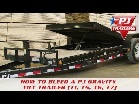 How to Bleed a PJ Gravity Tilt Trailer (T1, T5, T6, T7)