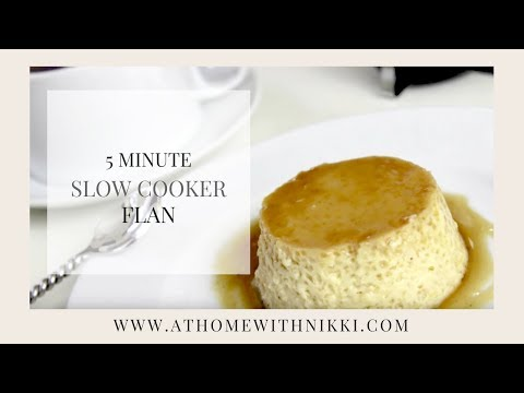 EASY RECIPES & SLOW COOKER COOKING TIP | HOW TO MAKE FLAN
