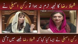 Shehla Raza Loose Her Temper in Sindh Assembly | Neo News