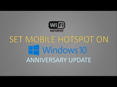 Set a Mobile Hotspot on Windows 10 Anniversary Update