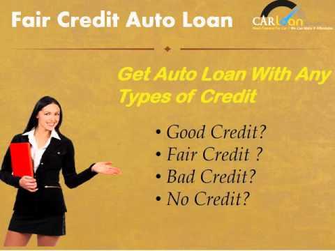 Car Loans With Fair Credit Score
