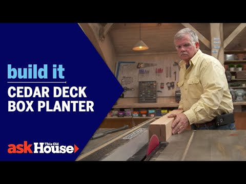 Build It | Cedar Deck Box Planter