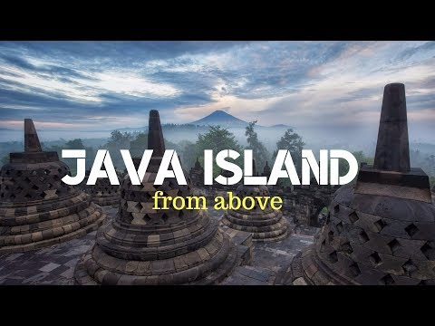 Java island from above.