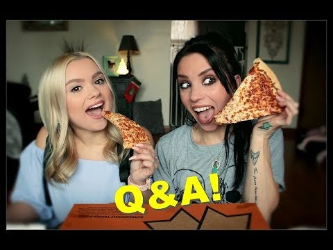 Pizza Q&A Mukbang w/ My Sister Pt. 2!   Signs from Dad, Wedding, & Funny Stories!
