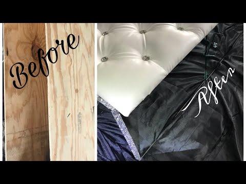 Tufted & Mirror Storage Bench DIY/Chymarie/Home Decor DIY/DIY