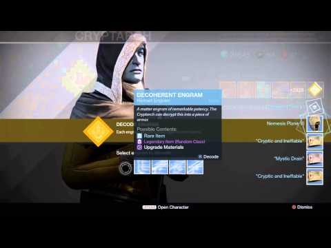 Destiny Engram Reveal 85+ New 2015 Engram Decode
