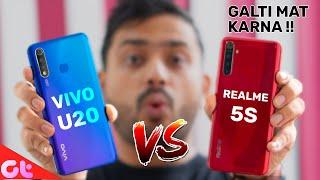Vivo U20 vs Realme 5s Full Comparison with Camera and Gaming | GALTI MAT KARNA | GT Hindi