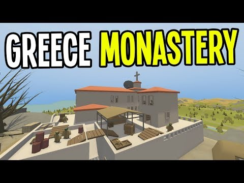 Unturned - OLD MONASTERY MILITARY DEAD ZONE!! - Greece Map Modded Survival - Ep. 19